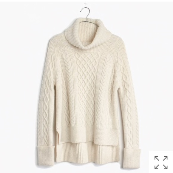 a7e020f05b53 Madewell Sweaters - Madewell White Cable Knit Turtleneck Sweater
